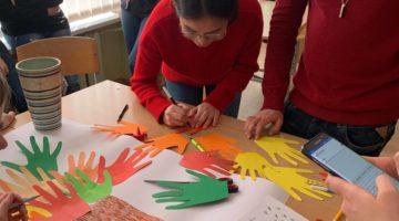 Mokykloje lankėsi užsienio studentai